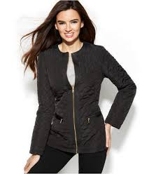 New York travel blazer images Jones new york collarless quilted jacket with travel bag in black jpeg
