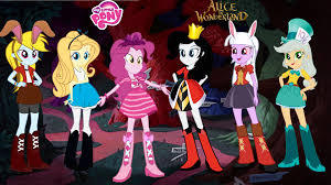 my little pony equestria girls transforms into alice in wonderland