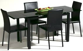 glass top dining room set black glass top modern dining table w optional chairs