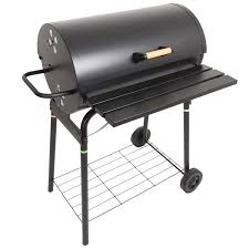 barbecue cuisine azuma black steel barrel bbq barbeque charcoal grill cooking