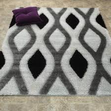 Shaggy Grey Rug White And Gray Shaggy Rug Wayfair