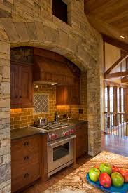 Interior Stone Arches Steep Creek Stoneworks Western North Carolina Masons And