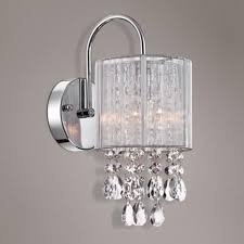 crystal sconces for bathroom crystal wall sconce bathroom my web value