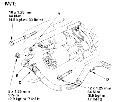 where is the starter for a 2003 honda accord ex 4 cylinder