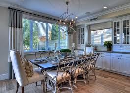 Contemporary Dining Room With Foucaults Orb Chandelier - Regency dining room