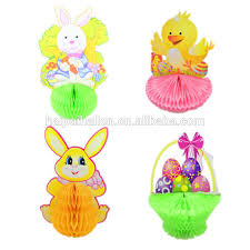 easter rabbits decorations vintage easter die cut paper honeycombtable decoration easter