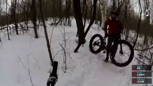 christmas day snow biking on a specialized riprock 20