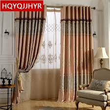 Length Curtains European Luxury Embroidered Floor Length Curtains Blackout