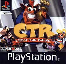 animated wrecked car play ctr crash team racing sony playstation online play retro
