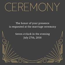 ceremony cards deco wedding invitations match your color style free