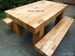 rustic outdoor picnic tables solid wood garden furniture stylish wooden patio furniture best