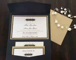 Wedding Invitation Pocket Envelopes Silver White Rose Gold Wedding Invitation Pocket