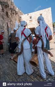 shofar from israel jerusalem israel men in biblical clothes with shofar a
