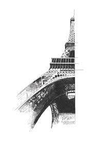 eiffel tower drawing on behance