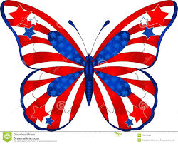 4th of july artwork beautiful butterfly in different colors