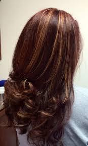 photo dark auburn hair color with caramel highlights auburn hair