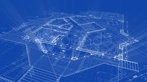House Blue Print by Blueprint House Wallpaper Background