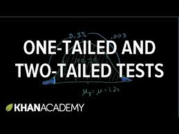 one tailed and two tailed tests video khan academy