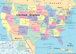 combined map of usa and canada usa canada mexico map