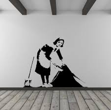 banksy cleaner vinyl wall decal for home decor interior design