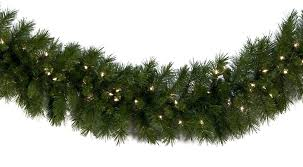 lighted garland dunhill fir prelit led