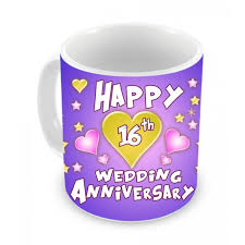 16th wedding anniversary gifts 16th wedding anniversary gift coffee mug