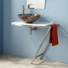 wall mount vessel sink vanity michel wall mount wrought iron vessel sink stand with stone top