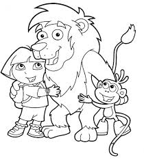 dora explorer printable coloring pages hubpages