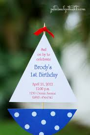 sailboat nautical birthday party invitation invitations sailboat