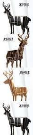 scandinavian creative deer elk console tables animal shaped wooden