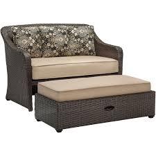 furniture outdoor loveseat with rattan ottoman