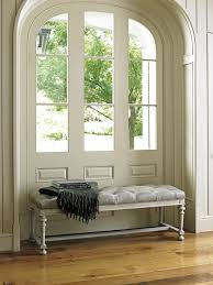 oyster bay bellport leather bed bench lexington home brands