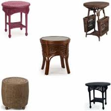 Wicker Accent Table Accent Tables Wicker Rattan End Tables
