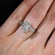 emerald cut engagement rings 3 18 carat emerald cut ring h vs1