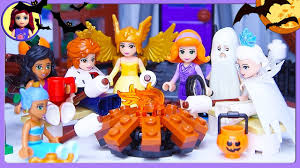 lego friends halloween haunted mansion dress up silly play kids