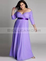 robe de cocktail grande taille pour mariage de soirée grande taille longue violette bande mousseline