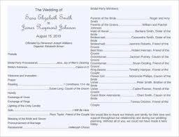 printable program templates free printable wedding program