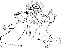 coloring pages of yogi bear coloring page tv series coloring page yogi bear picgifs com
