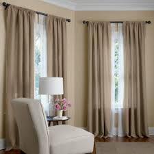pair of curtain drapery panels 100 linen oatmeal 50 x 108