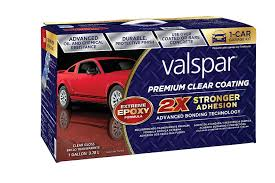 Rustoleum Garage Floor Coating Kit Instructions by Amazon Com Valspar 81052 Premium Clear Epoxy Kit 1 Gallon