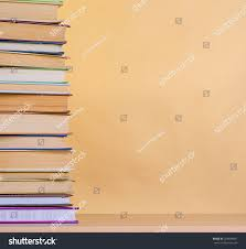 Wooden Table Stack Book On Wooden Table Stock Photo 254694841 Shutterstock