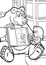 mascha bear coloring pages download print free