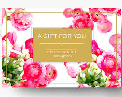 pre made gift card template photography gift certificate