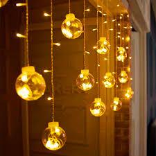 indoor christmas window lights big globe ball indoor window christmas curtain light 3m 120 led