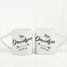 Personalized Mugs For Wedding Personalized Wedding Arrow Coffee Mugs Set Of 2