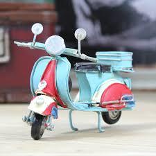 cheng yi home vespa scooter tin ornaments window