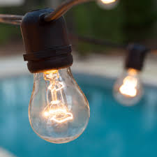 patio lights commercial clear patio string lights 24 a15 e26