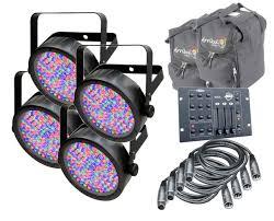 chauvet slimpar 56 led light 4x chauvet dj slimpar 56 rgb3cir arriba cases ac115 4 dmx cables