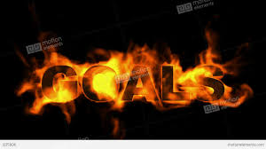 burning goals word business fire text stock animation 835806