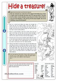 hide a treasure follow my worksheets on islcollective
